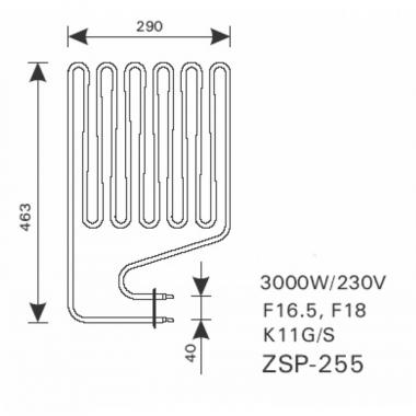 ТЭН арт.12002 аналог Harvia ZSP-255