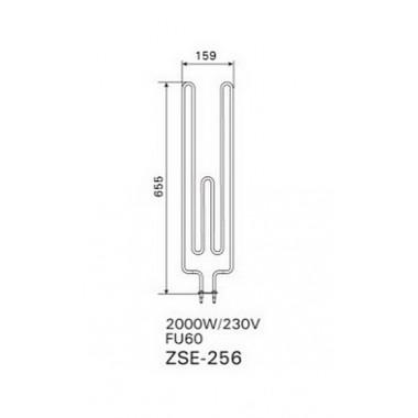 ТЭН арт.12017 аналог Harvia ZSE-256