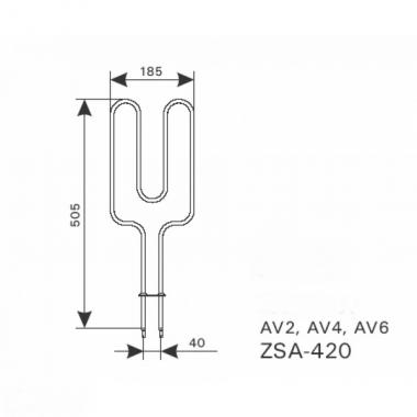 ТЭН арт.12020 аналог Harvia ZSA-420