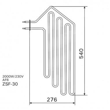 ТЭН арт.12022 аналог Harvia ZSF-30