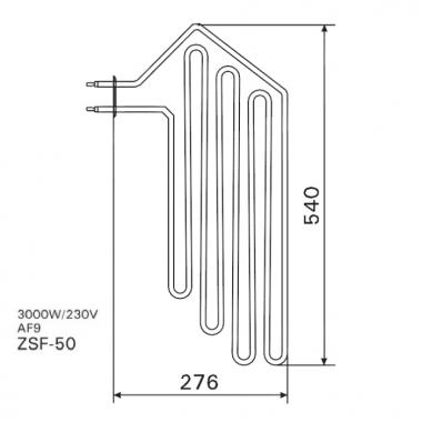 ТЭН арт.12023 аналог Harvia ZSF-50