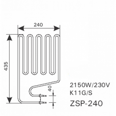 ТЭН арт.12029 аналог Harvia ZSP-240