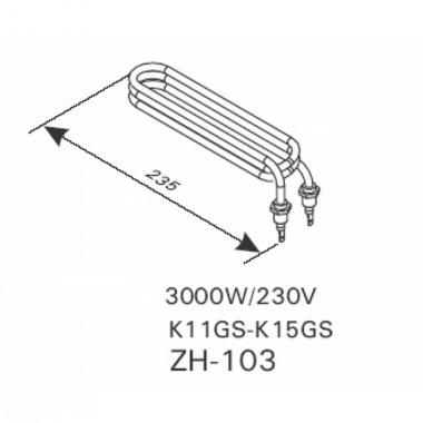 ТЭН арт.12040 аналог Harvia ZH-103